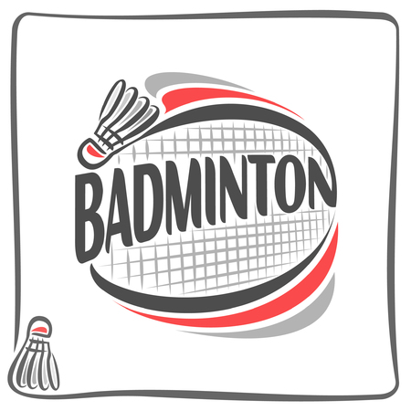 court: Abstract image on the badminton theme