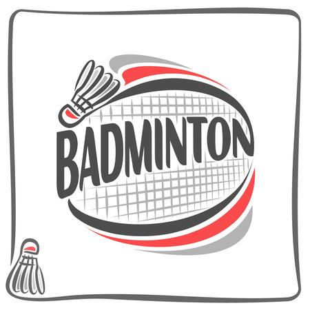 badminton: Abstract image on the badminton theme