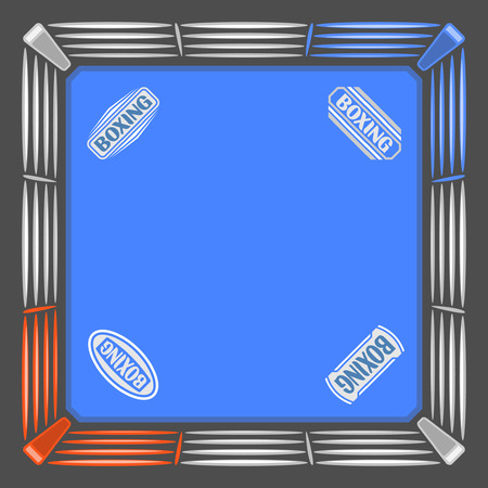 boksring: Abstract image for text in the form of a boxing ring Stock Illustratie