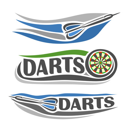 Abstract images on the darts theme Ilustração