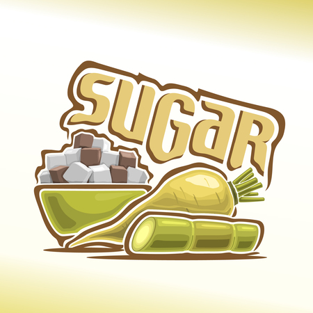 Vector illustration on the theme of sugar
