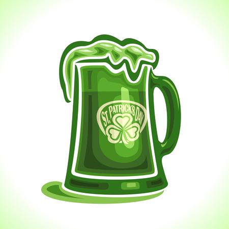 irish pub label design: Creative hat for St. Patricks Day