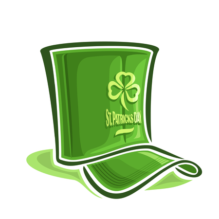 laughable: Abstract vector illustration on the theme of creative hat for St. Patricks Day
