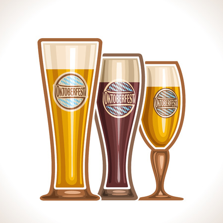 bock: glass cups of beer