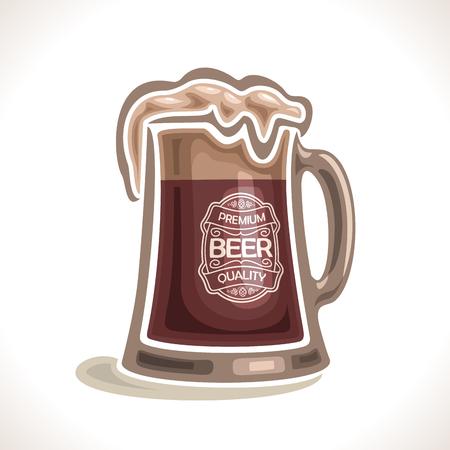 irish pub label design: beer mug