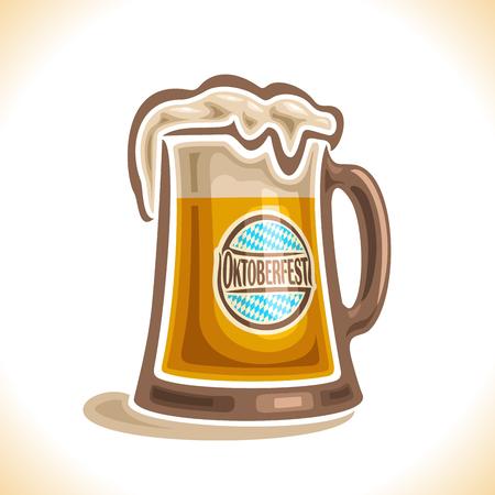 bock: beer mug