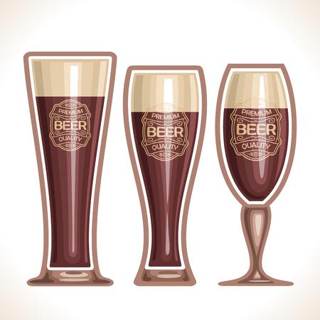 irish pub label design: glass cups of beer