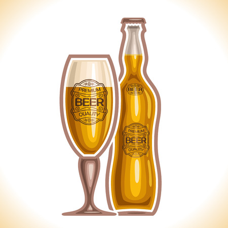 bock: glass cup and bottle beer