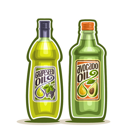 bottling: 2 green glass Bottle with pure Avocado Oil