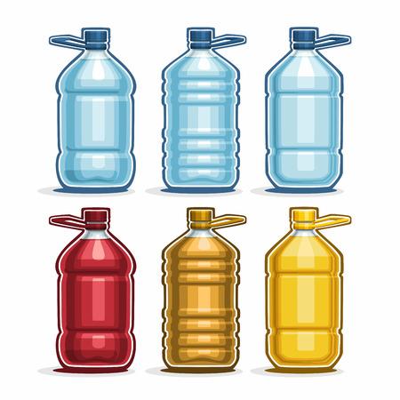 bottling: Set blue big Plastic Bottles with cap for water