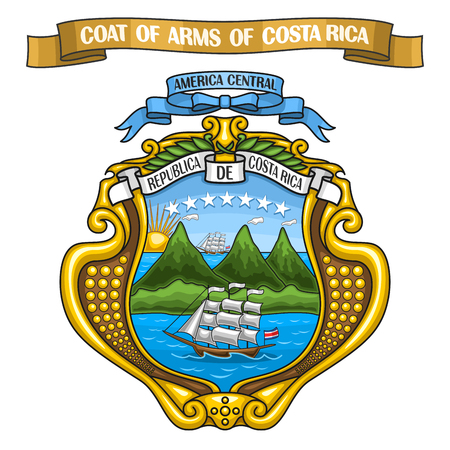 Vector illustration of the Costa Rican Coat of Arms