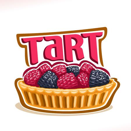 Vector icon for tart dessert poster.