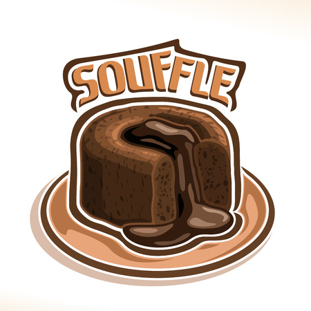 Vector icon for chocolate souffle poster.