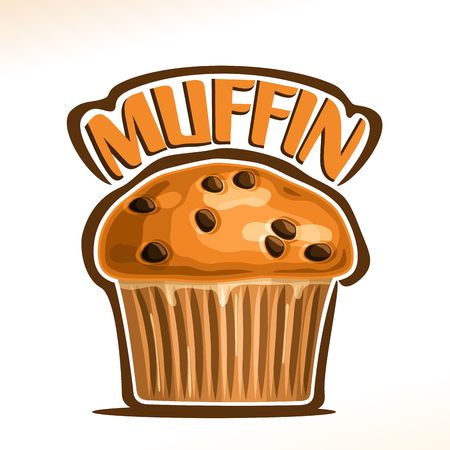 Vector emblem for a Chocolate Muffin