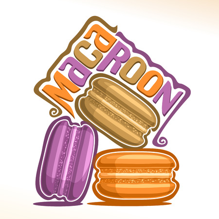 Vector emblem for Macaroon