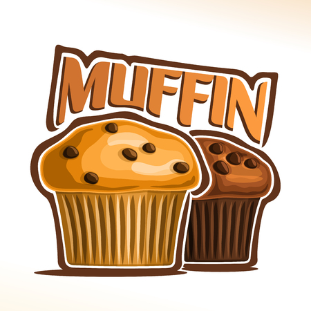 Vector emblem  for Muffin