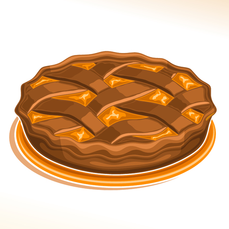 Vector illustration of a Chocolate Pie