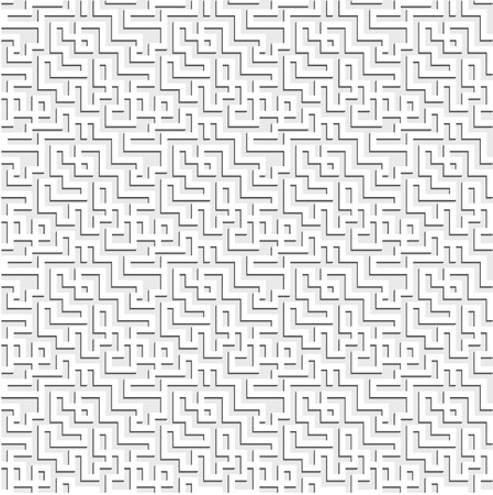 tiles texture: Seamless pattern of a maze with long shadow
