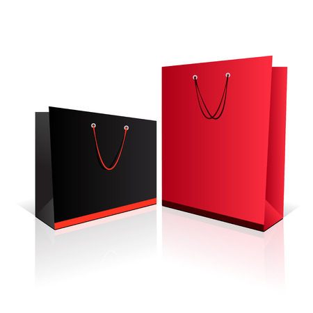 Black and red paper bag