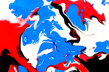marble: Abstract ink background. Marble style. Red black blue ink in water