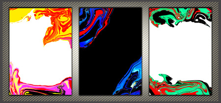 Abstract ink background. Marble style. Abstract marble backgrounds set. Ink. Paint.