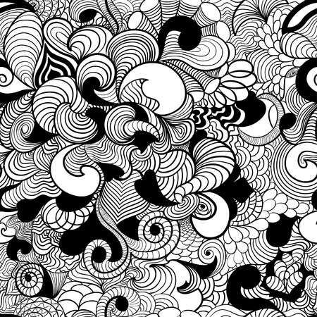 Zentangle wave background