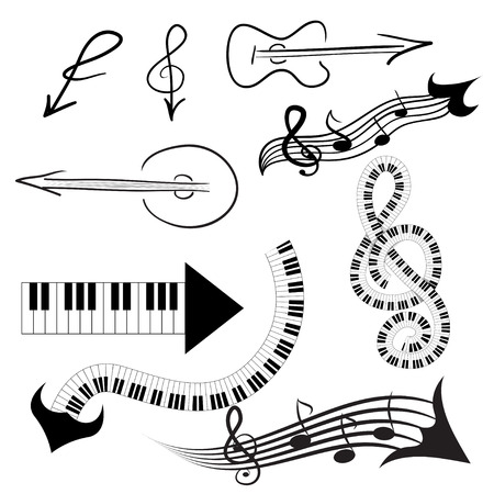 Music arrow