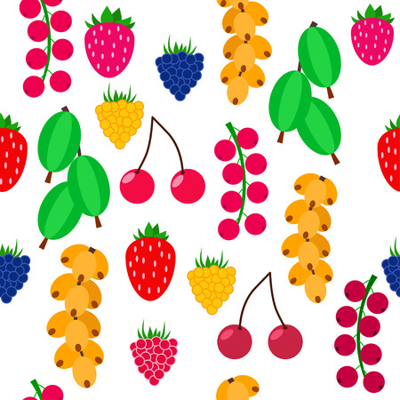 Seamless berry pattern 矢量图像
