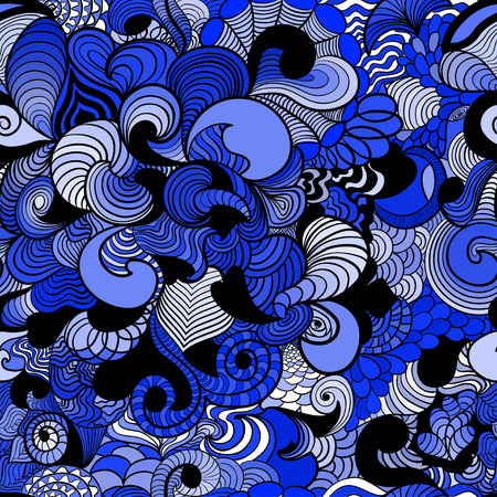 Seamless pattern in style zentangle ethnic Illustration