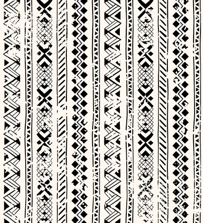 Seamless pattern in style zentangle ethnic Illustration
