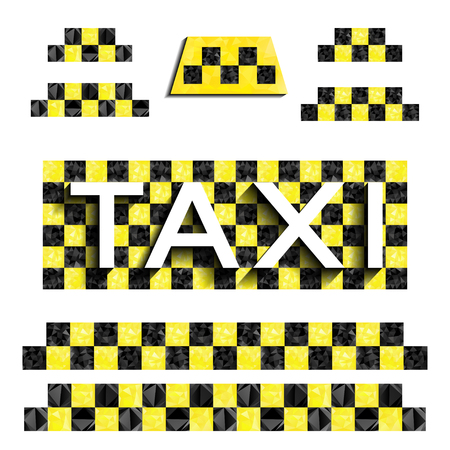 checker flag: Checkers taxi with triangles