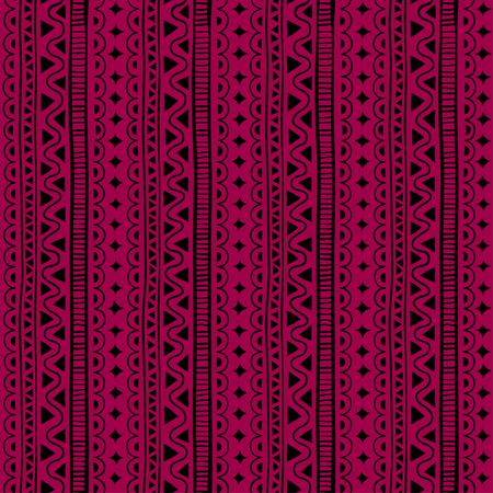 스타일 민족, 낙서 원활한 패턴입니다. 빨간색 형상 원활한 패턴입니다.