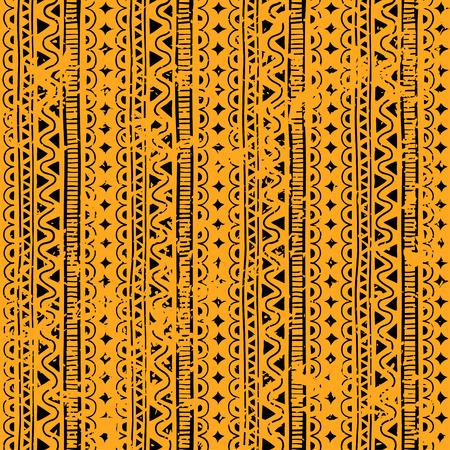 그레인 스타일 민족, 낙서 원활한 패턴입니다. 노란색 형상 원활한 패턴입니다.