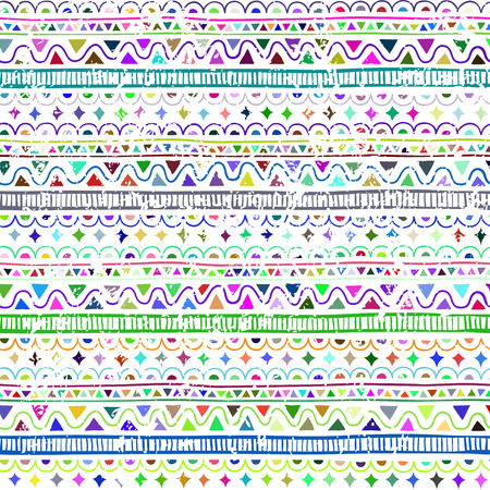 Grange Seamless pattern in style ethnic, doodle. Color geometric seamless pattern.