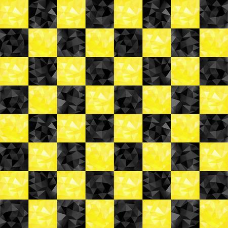 검정색과 노란색 checkers 택시 완벽 한 패턴으로 삼각형
