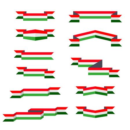 고삐. 헝가리의 국기입니다. 평면 디자인.