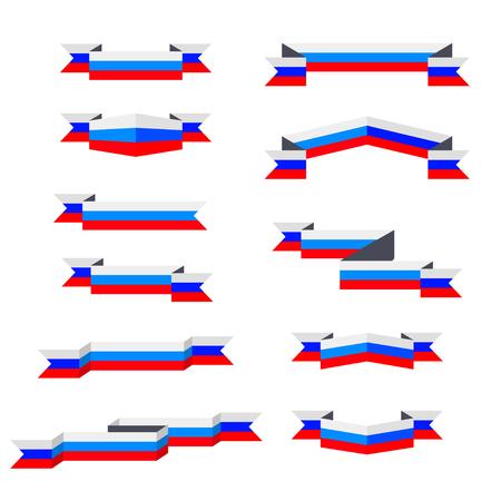 고삐. 러시아의 국기. 평면 디자인.