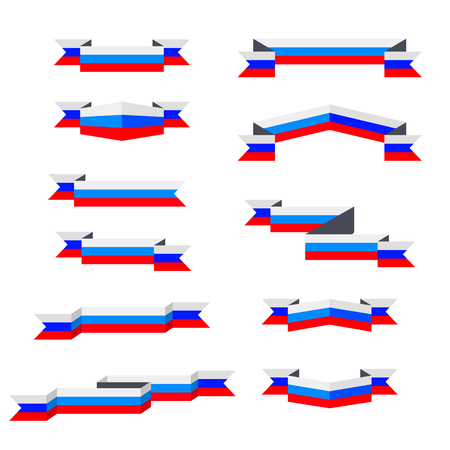 Ribbons. Flag of Russia. Flat design.