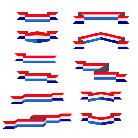 고삐. 네덜란드의 국기. 평면 디자인. 일러스트