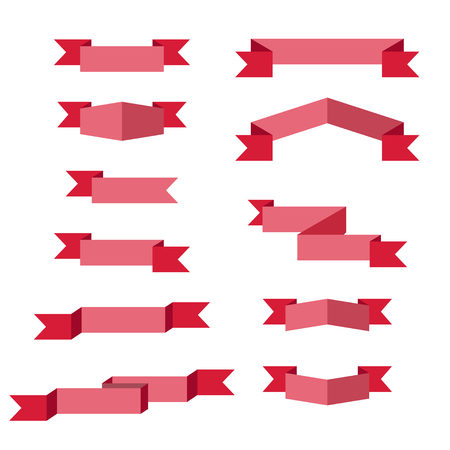 Ribbons. Flat design.