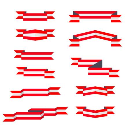 고삐. 오스트리아의 국기. 평면 디자인.