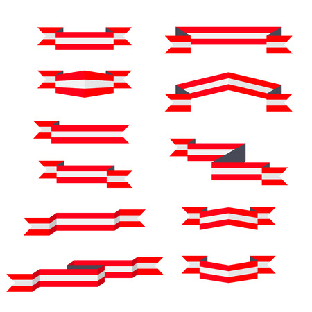 Ribbons. Flag of Austria. Flat design. 矢量图像