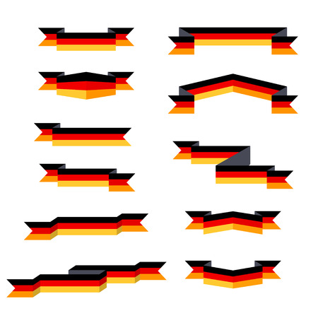 Ribbons. Flag of Germany. Flat design.