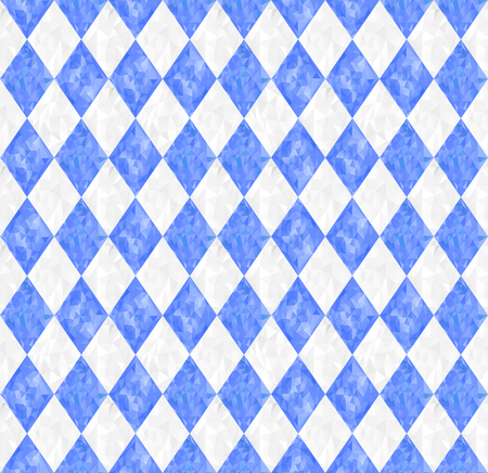 Seamless Oktoberfest blue background with triangles