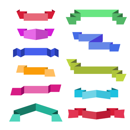Ribbons. Banners. Flat design
