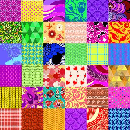 Abstract patchwork seamless pattern 矢量图像