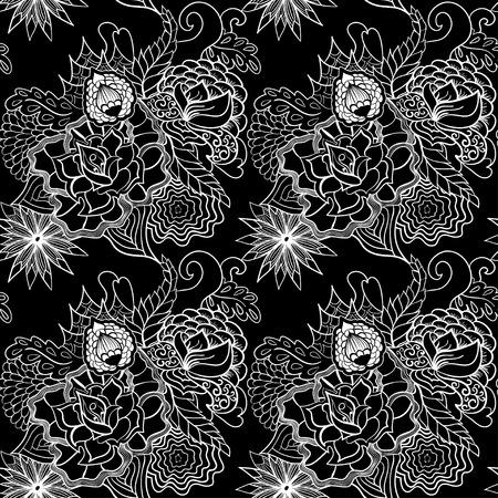 스타일이에서 원활한 패턴 민족, 낙서. 일러스트