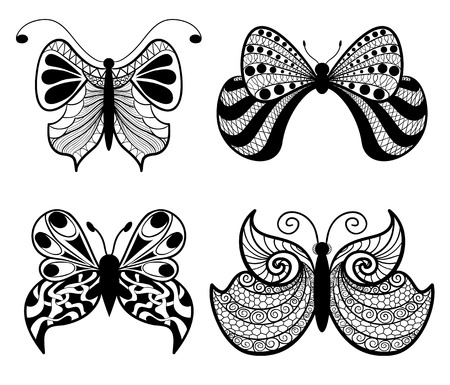 민족 스타일의 나비 스타일