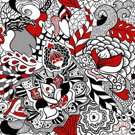 Flower seamless pattern in style