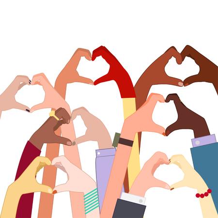 Hands hearts gestures Illustration